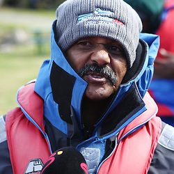 TAUPO, NEW ZEALAND - SEPTEMBER 20, Peter de Villiers Springbok Head Coach during the Springboks Jet Boat Trip at Hukafalls on September 20, 2011 in Taupo, New Zealand<br /> Photo by Steve Haag / Gallo Images