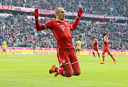 30.11.2013, Allianz Arena, Muenchen, GER, 1. FBL, FC Bayern München vs Eintracht Braunschweig, 14. Runde, im Bild Torjubel von Arjen ROBBEN #10 (FC Bayern Muenchen) // during the German Bundesliga 14th round match between FC Bayern München vs Eintracht Braunschweig at the Allianz Arena in Muenchen, Germany on 2013/11/30. EXPA Pictures © 2013, PhotoCredit: EXPA/ Eibner-Pressefoto/ Kolbert<br /> <br /> *****ATTENTION - OUT of GER*****