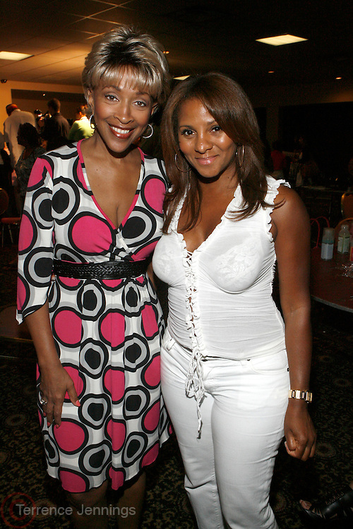"Cynthia Holiday Moore and Marvet Britto at The launch of the Women in Entertainment Empowerment Network's (WEEN) ""Don't Judge Me...EmPower Me"" national tour, where entertainment icons and executives will participate with thousands of young adults in intimate, interactive panel discussions held at the Hammerstein Ballroom on June 28, 2008..Topics include health; financial literacy, hosted by Genworth Financial; leadership and career development, hosted by Interpublic Group (IPG) and relationships, hosted by BET Networks.."