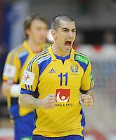Handball EM Herren 2010 Vorrunde Deutschland - Schweden 22.01.2010 Dalibor Doder (SWE) jubelt