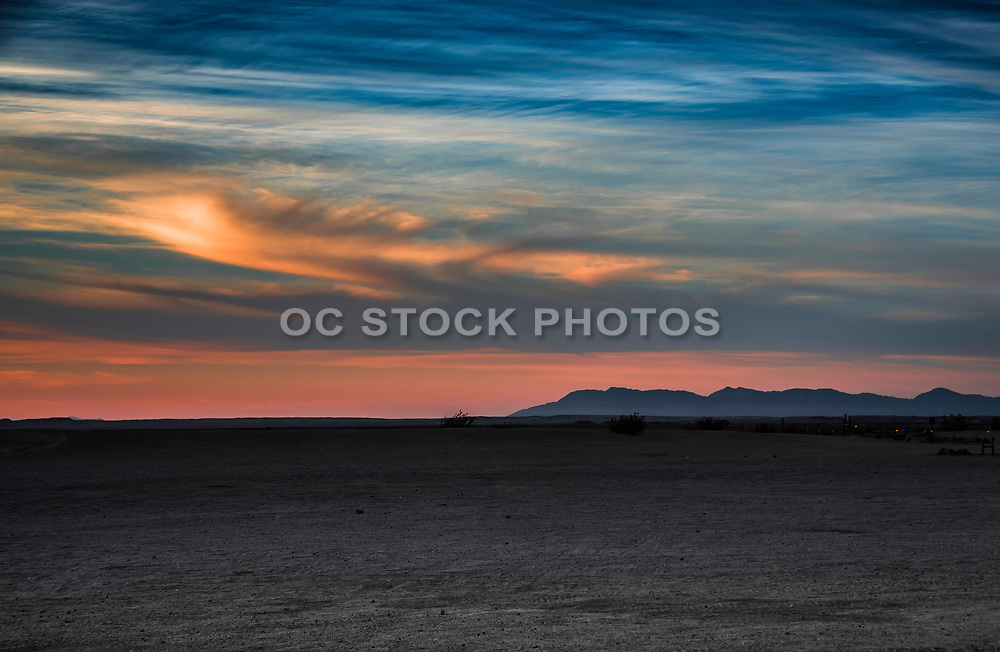 Anza-Borrego Desert At Sundown