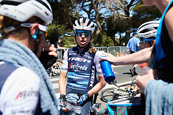 Cooked! Tayler Wiles (USA) after the 2020 Towards Zero Race Torquay - Elite Women, a 104 km road race in Torquay, Australia on January 30, 2020. Photo by Sean Robinson/velofocus.com