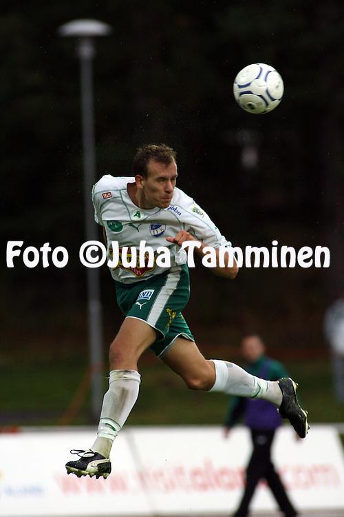 02.09.2007, Wikl?f Holding Arena, Mariehamn, Finland..Veikkausliiga 2007 - Finnish League 2007.IFK Mariehamn - FC Viikingit.Peter Blomberg - IFK Mhamn.©Juha Tamminen.....ARK:k