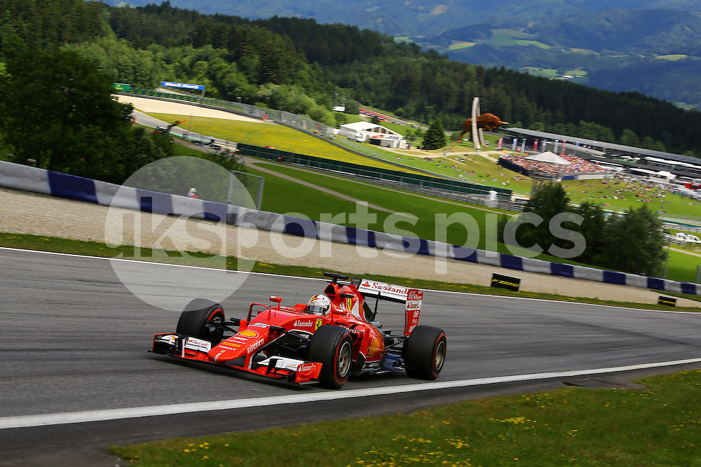 Sebastian Vettel of Ferrari during the Formula 1 Grand Prix of Austria at  at Red Bull Ring, Spielberg, Austria on 21 June 2015. Photo by Marco Canoniero / sync.