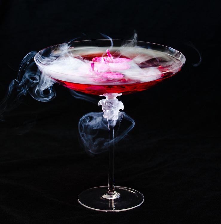 Cocktail photographed for the Villa by Barton G in the former Versace Mansion on Miami  Beach's celebrated Ocean Drive