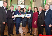 07/09/2017   Minister Denis Naughten  who announced a joint venture between enet and SSE which will roll-out superfast broadband to 115,000 premises in regional Ireland with from Left Kevin Kelly Galway Co Co, Cllr Michael Connolly, Minister, Cllr Eileen Mannion Cathaoirleach Galway CoCo  David C. McCourt, founder of Granahan McCourt Capital and Chairman of enet  Catherine McConnell, Galway co Co , Cllr Michael Finnerty and Stephen Wheeler, MD SSE Ireland.<br />  Photo:Andrew Downes, xposure