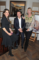 Left to right, ESTHER FREUD, photographer JONATHAN GLYNN-SMITH and KITTY ALDRIDGE at The Great Initiative event in association with jewellers Boodles held at The Corinthia Hotel, London on 6th November 2012.