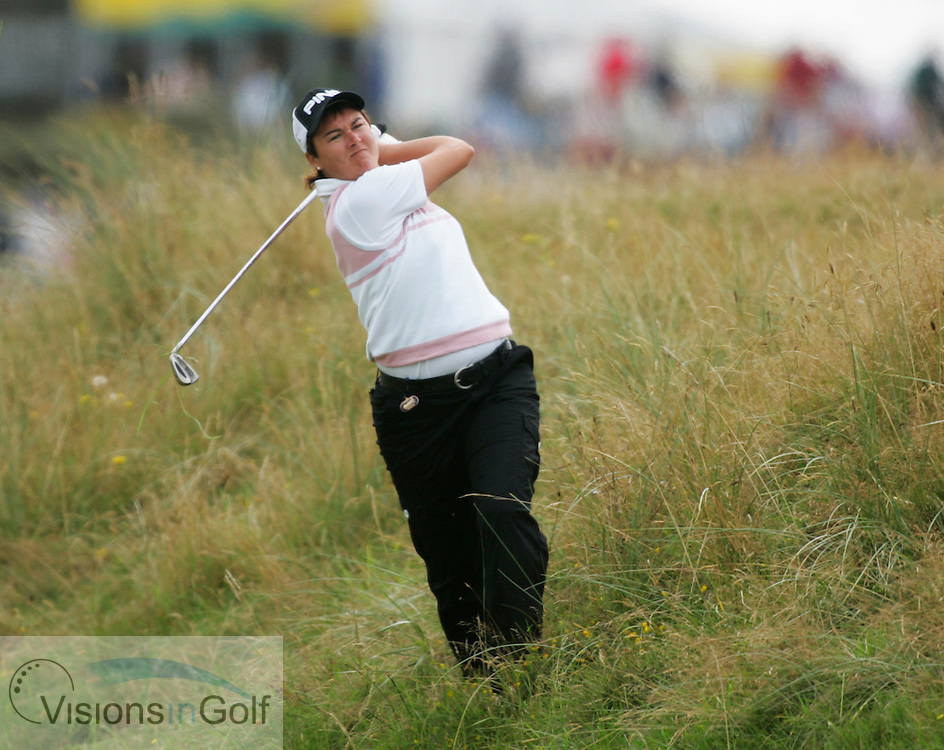 Sophie Gustafson<br /> Weetabix Womens British Open 2005, Royal Birkdale, England, UK <br /> Photo credit: Mark Newcombe / visionsingolf.com