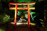 Entrance to Japanese Garden at Night - The Butchart Gardens, Vancouver Island, B.C.