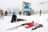 12 MAR 2005: Dirk Grimm (11) of the University of New Mexico takes a breather following the freestyle cross country event of the 2005 NCAA Men and Women's Skiing Championships held at Trapp Family Lodge  in Stowe, VT. Grimm placed 10th in  the event. ©Brett Wilhelm