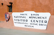 The visitor center at White Sands National Park, New Mexico USA