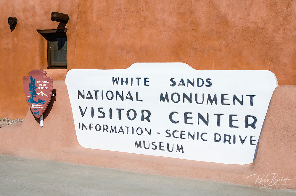 The visitor center at White Sands National Monument, New Mexico USA
