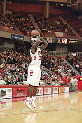 2000-2001 Illinois State Redbird men's basketball - Shedrick Ford<br /> <br /> <br /> This image was scanned from a slide, print, negative or transparency.  Image quality may vary.  Dust and other unwanted artifacts may exist.