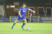 AFC Wimbledon defender Jon Meades (3) passing the ball during the EFL Trophy match between AFC Wimbledon and Luton Town at the Cherry Red Records Stadium, Kingston, England on 31 October 2017. Photo by Matthew Redman.