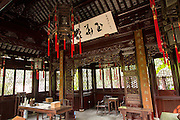 Interior of Yuhua Hall in Yu Yuan Gardens Shanghai, China