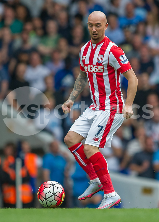 Stephen Ireland of Stoke City in action during the Barclays Premier League match between Tottenham Hotspur and Stoke City at White Hart Lane, London, England on 15 August 2015. Photo by Vince  Mignott.