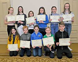 Westport Athletic Club Awards<br />in front Kelsey O'Donnell, Darragh Malone, Amy Carney, Tadhg Daly and Jack Driscoll.<br />Standing Eva Ryall Emily O'Connell, Roisin and Aoibhinn Hopkins, Larissa Kelly and Lucy O'Connell.<br />Pic Conor McKeown