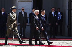 May 19, 2017 - Warsaw, Poland - Poland's President Andrzej Duda welcomes German President Frank-Walter Steinmeier in Warsaw on May 19, 2017. (Credit Image: © Krystian Dobuszynski/NurPhoto via ZUMA Press)