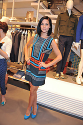 LEIGH LEZARK at a party to celebratethe opening of the Lacoste Flagship Store at 44 Brompton Road, Knightsbridge, London on 20th June 2012.