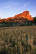 Morning light on South Gateway Rock, Garden of the Gods Park, Colorado Springs, Colorado
