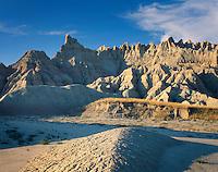 Badlands rock formations, Badlands National Park South Dakota USA