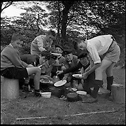 The All Ireland Scoutcraft Competition, the Melvin Trophy, at Larch Hill, Tibradden, Dublin. Larch Hill is the national campsite and administrative and training headquarters of Scouting Ireland..27.08.1961