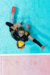 11–01-2020 NED: Semi Final Olympic qualification tournament women Germany - Netherlands, Apeldoorn<br /> First semi final match Germany - Netherlands 3-0 / Louisa Lippmann #11 of Germany