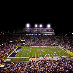 November 12, 2011; Baton Rouge, LA, USA;  A general view from the stands during the first quarter of a game between the LSU Tigers and the Western Kentucky Hilltoppers at Tiger Stadium. LSU defeated Western Kentucky 42-9. Mandatory Credit: Derick E. Hingle-US PRESSWIRE
