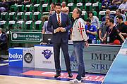 DESCRIZIONE : Campionato 2014/15 Dinamo Banco di Sardegna Sassari - Umana Reyer Venezia<br /> GIOCATORE : Mauro Sartori Federico Pasquini<br /> CATEGORIA : Fair Play Team Manager<br /> SQUADRA : Dinamo Banco di Sardegna Sassari<br /> EVENTO : LegaBasket Serie A Beko 2014/2015<br /> GARA : Dinamo Banco di Sardegna Sassari - Umana Reyer Venezia<br /> DATA : 03/05/2015<br /> SPORT : Pallacanestro <br /> AUTORE : Agenzia Ciamillo-Castoria/L.Canu
