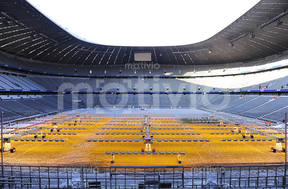 Fussball 1. Bundesliga : Waermelampen in der Allianz Arena zur ...