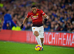 CARDIFF, WALES - Saturday, December 22, 2018: Manchester United's Anthony Martial during the FA Premier League match between Cardiff City FC and Manchester United FC at the Cardiff City Stadium. Manchester United won 5-1.(Pic by Vegard Grøtt/Propaganda)
