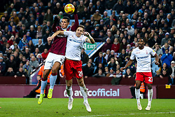 Anwar El Ghazi of Aston Villa punches the ball into the goal - Mandatory by-line: Robbie Stephenson/JMP - 28/11/2018 - FOOTBALL - Villa Park - Birmingham, England - Aston Villa v Nottingham Forest - Sky Bet Championship