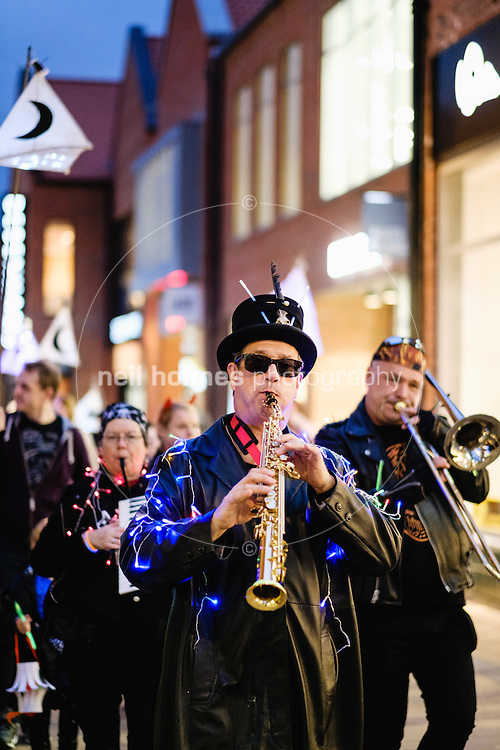 Flemingate, Beverley, East Yorkshire, United Kingdom, 29 October, 2016. Pictured: Hull Carnival Arts Lantern Parade
