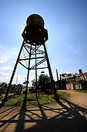 Water tower in Cruces, Cienfuegos Province, Cuba.