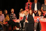 Mannheim. 19.09.17 | SPD-Kanzlerkandidat Martin Schulz im Capitol Mannheim.<br /> Im Wahlkampf zur Bundestagswahl unterstützt Kanzlerkandidat Martin Schulz Mannheims SPD Bundestagsabgeordneter Stefan Rebmann.<br /> <br /> <br /> BILD- ID 2379 |<br /> Bild: Markus Prosswitz 19SEP17 / masterpress (Bild ist honorarpflichtig - No Model Release!)