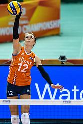 07-10-2018 JPN: World Championship Volleyball Women day 8, Nagoya<br /> Netherlands - Puerto Rico 3-0 / Britt Bongaerts #12 of Netherlands