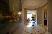 The main entryway at the home of Kyle and Anne Crews in the Tower Residences at the Ritz-Carlton in Dallas on Wednesday, April 17, 2013. (Cooper Neill/The Dallas Morning News)