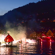 """Water Fools,"" a midnight circus; Bergen, Norway."