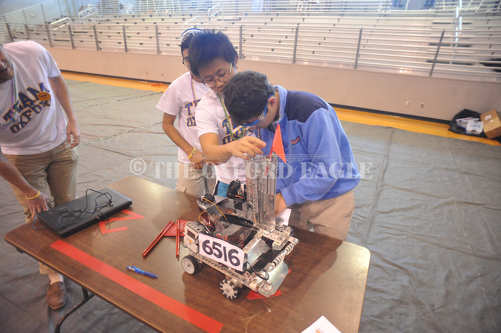 Oxford High students participate in a qualifier tournament for the FTC Robotics Competition at Lafayette High in Oxford, Miss. on Saturday, January 24, 2015. The state tournament which will be hosted by the Center for Math and Science Education at Ole Miss in February.
