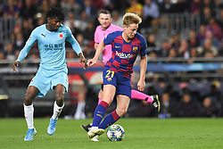 November 5, 2019, Barcelone, Espagne: FOOTBALL: FC Barcelone vs SK Slavia Praha - Champions League - 05/11/2019.Frankie De Jong, Petrer Olayinka. (Credit Image: © Panoramic via ZUMA Press)