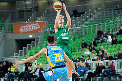 Jaka Blazic of KK Cedevita Olimpija during basketball match between KK Cedevita Olimpija and KK Sixt Primorska in Round #17 of ABA League 2019/20, on January 26, 2020 in Arena Stozice, Ljubljana, Slovenia. Photo By Grega Valancic / Sportida