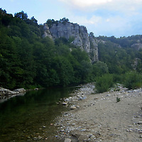 EN&gt; The canyon of the river Labeaume in the Ardeche, France |<br />