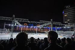 23.12.2014, Hala Tivoli, Ljubljana, SLO, EBEL, HDD Telemach Olimpija Ljubljana vs Dornbirner EC, 29. Runde, in picture View on the ice rink during the Erste Bank Icehockey League 30. Round between HDD Telemach Olimpija Ljubljana and Dornbirner Eishockey Club at the Republic Square, Ljubljana, Slovenia on 2014/12/23. Photo by Morgan Kristan / Sportida