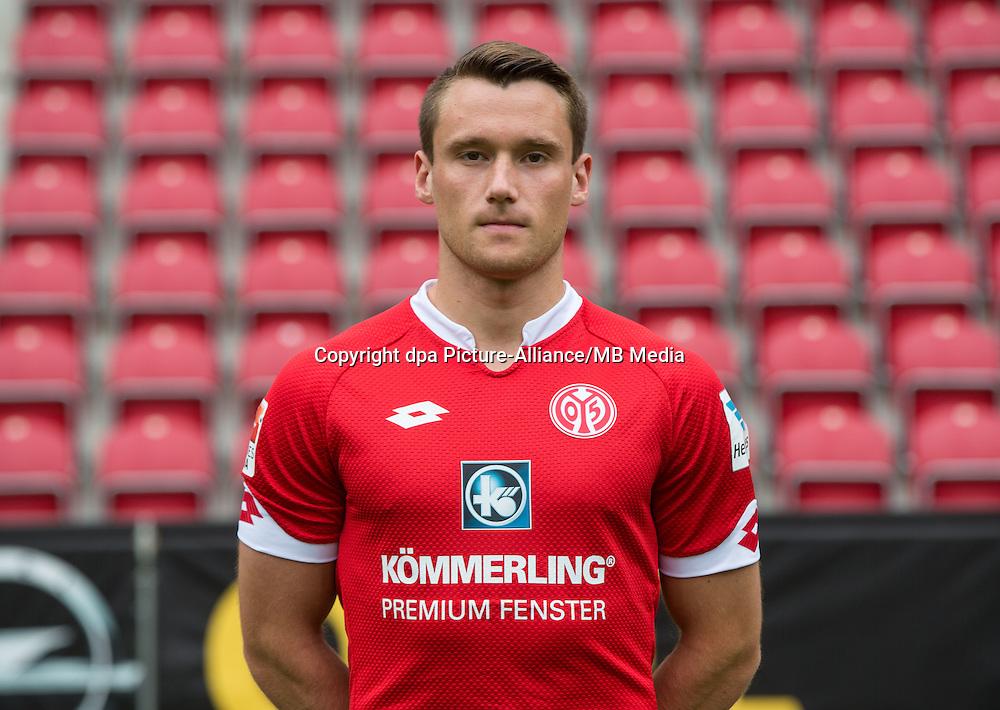 German Soccer Bundesliga 2015/16 - Photocall 1. FSV Mainz on 12 July 2015 in Mainz, Germany: Christian Clemens.