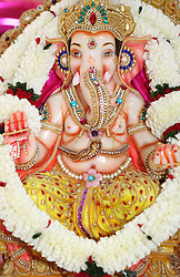 June 24, 2017 - Mississauga, ONTARIO, Canada - Marble idol of Lord Ganesh at a Hindu temple in Mississauga, Ontario, Canada. (Credit Image: © Creative Touch Imaging Ltd/NurPhoto via ZUMA Press)