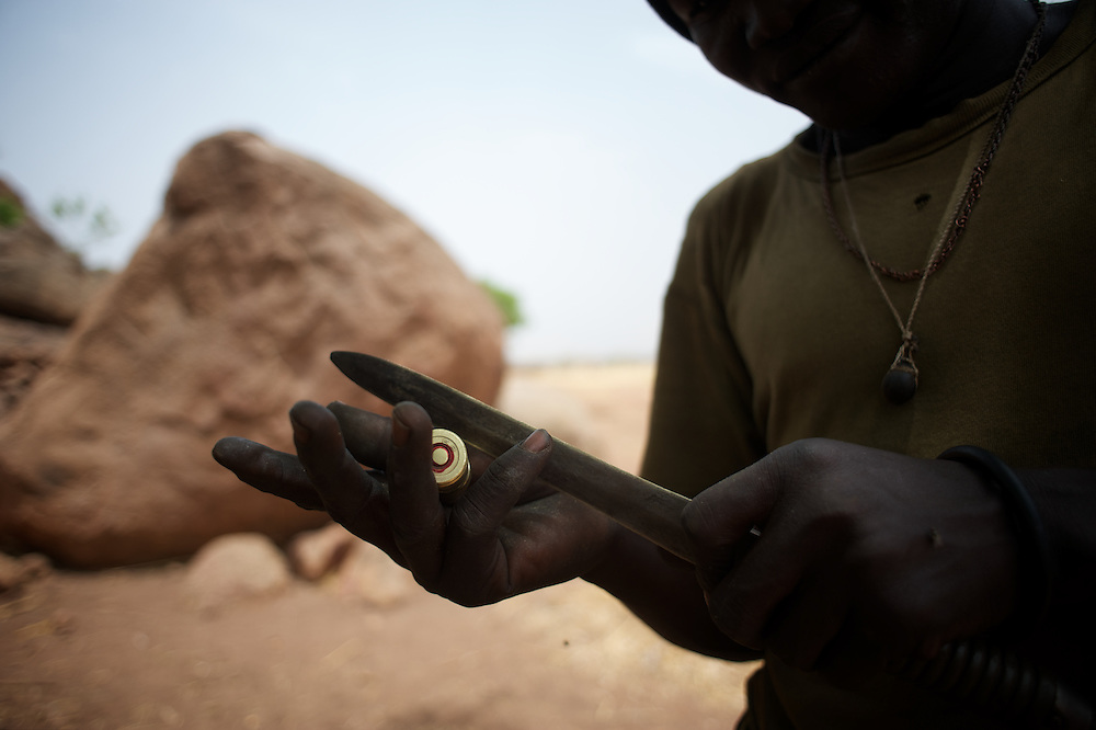 May 02, 2012 - Kauda, Nuba Mountains, South Kordofan, Sudan: A Sudan People?s Liberation Movement (SPLA-N) rebel fighter prepares his weapons for an attack on Sudan's Armed Forces (SAF) positions near Tess village in the rebel-held territory of the Nuba Mountains in South Kordofan. ..SPLA-North, a historical ally of SPLA, South Sudan's former rebel forces, has since last June being fighting the Sudanese Army Forces (SAF) over the right to autonomy and of the end of persecution of Nuba people by the regime of President Bashir. (Paulo Nunes dos Santos/Polaris)