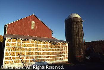 Perry Co., PA, Farm, Corn Crib Full