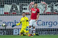 ROTTERDAM - 03-12-2016, Excelsior - AZ, Woudestein Stadion, teleurstelling na de 0-1, AZ keeper Sergio Rochet, AZ speler Stijn Wuytens.