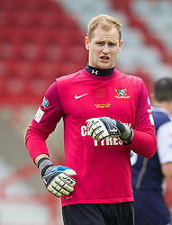 WREXHAM, WALES - Saturday, May 3, 2014: Aberystwyth Town's goalkeeper Mike Lewis in action against The New Saints during the Welsh Cup Final at the Racecourse Ground. (Pic by David Rawcliffe/Propaganda)