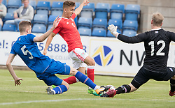 RHYL, WALES - Saturday, September 2, 2017: Wales' Brandon Oddy in action during an Under-19 international friendly match between Wales and Iceland at Belle Vue. (Pic by Gavin Trafford/Propaganda)
